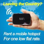Travelling Abroad? Rent an International Mobile HotSpot for One Low Flat Rate
