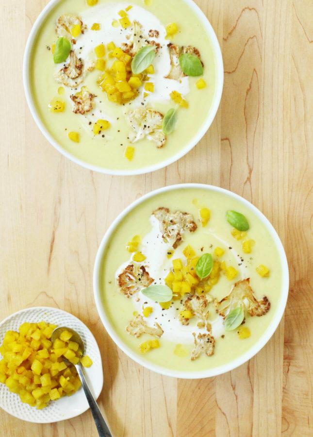 Curried Cauliflower and Apple Soup // FoodNouveau.com