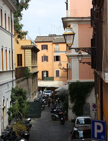 The view from my Roman apartment, in Trastevere