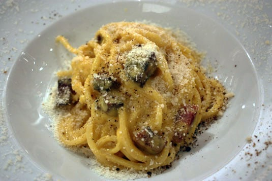 The best Carbonara I had in Rome, at Roscioli