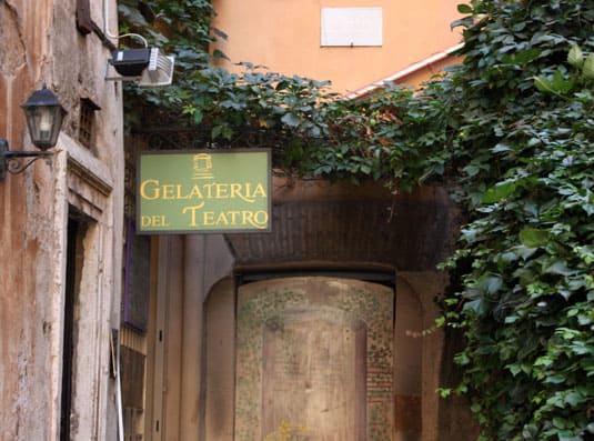 La Gelateria Del Teatro in the center of Rome