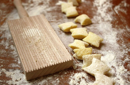 Rolling Homemade Gnocchi Dough on a Gnocchi Board // FoodNouveau.com