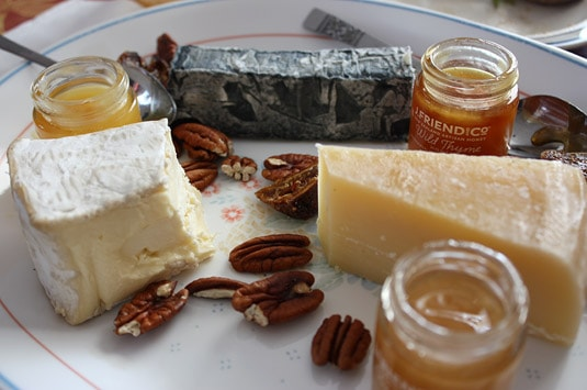 Selected award-winning Quebec cheeses: Le Riopelle, Le Cendrillon, La Tomme du Kamouraska.