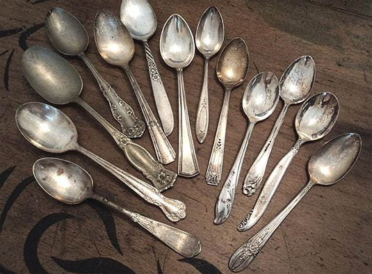59 Pieces of Vintage Silverware - Mixed Set in Box