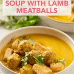 Curried Squash Soup with Lamb Meatballs // FoodNouveau.com