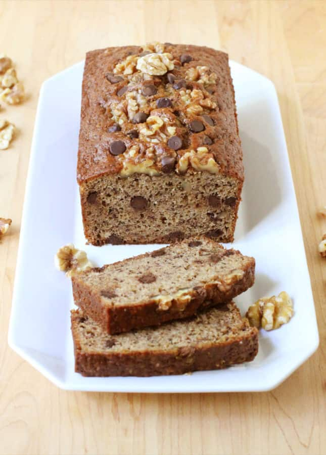 Textbook Banana Bread: How to make a perfectly tender and moist banana bread you'll want to eat for breakfast, snack, and dessert. // FoodNouveau.com