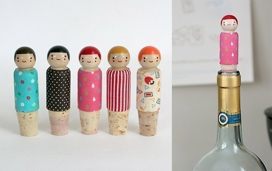 Happy Helper Wine Bottle Stopper (by The Small Object)