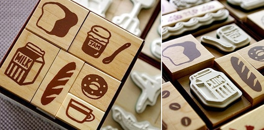 Foodie Stamp Set (by Karaku)