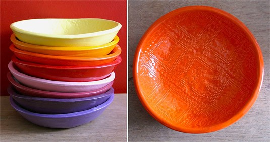 Multicolor Medium Wobbly Bowls (by Atelier BB)
