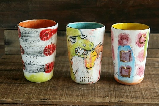 Collectible Handpainted, Handglazed Tumblers