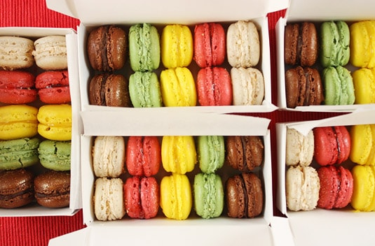 A macaron box is like a jewelry box to me.