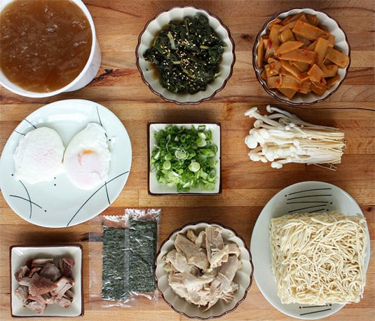 David Chang's Momofuku Ramen: Mise en place