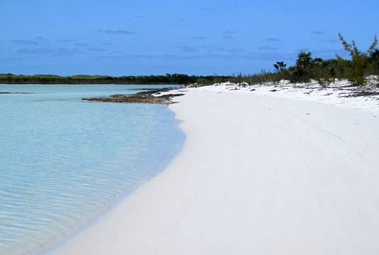 The most beautiful beach in the world at Shroud Cay.