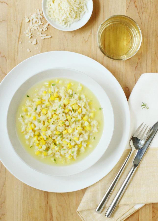 Sweet Corn Risotto in Corn Broth // FoodNouveau.com