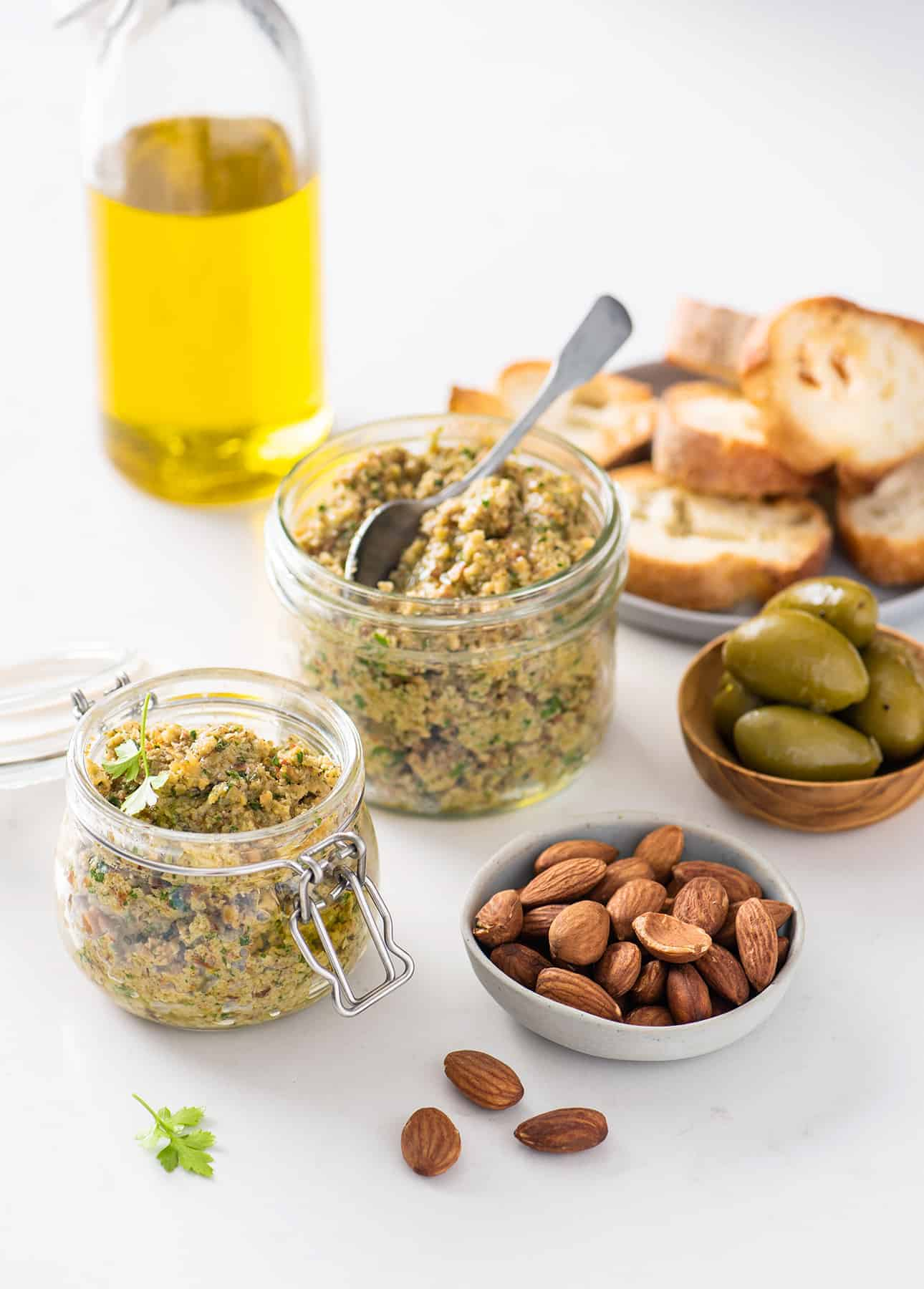 Chunky, Lemony, Addictive Green Olive Tapenade