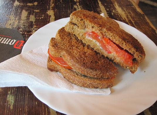 A classic tosti at Jordaan's Kat in the Wijngaert.