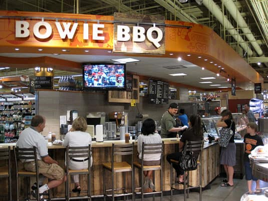 Whole Foods Market barbecue counter in Austin, Texas