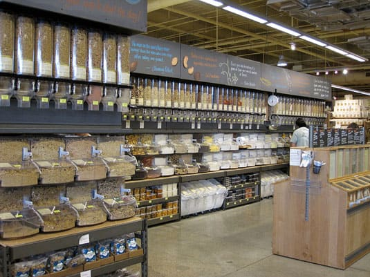 The impressive bulk aisle at Whole Foods Market Lamar, Austin, Texas