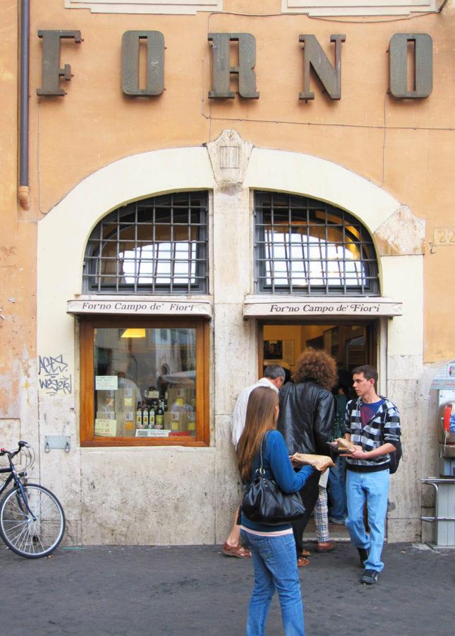 Rome's famous Forno Campo de Fiori // FoodNouveau.com