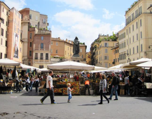 Picture-Perfect Campo de Fiori, Rome // FoodNouveau.com