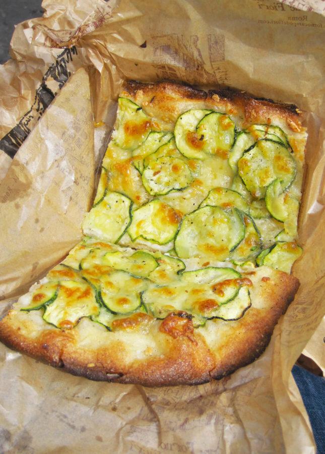 Campo de Fiori's Zucchini Pizza // FoodNouveau.com