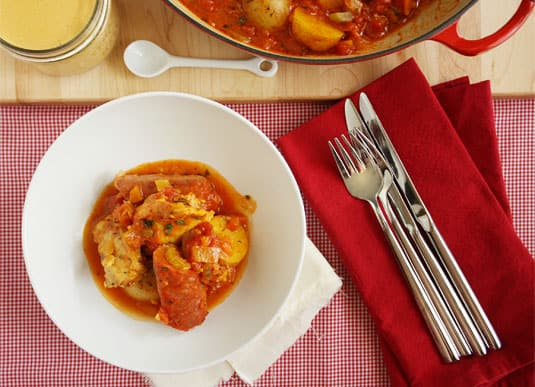 Chicken Bouillabaisse, a quick and easy adaptation of a French classic by Jacques Pépin // FoodNouveau.com