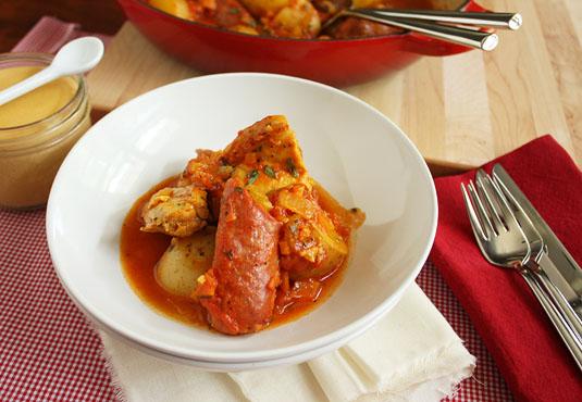 Jacques Pépin's Chicken Bouillabaisse