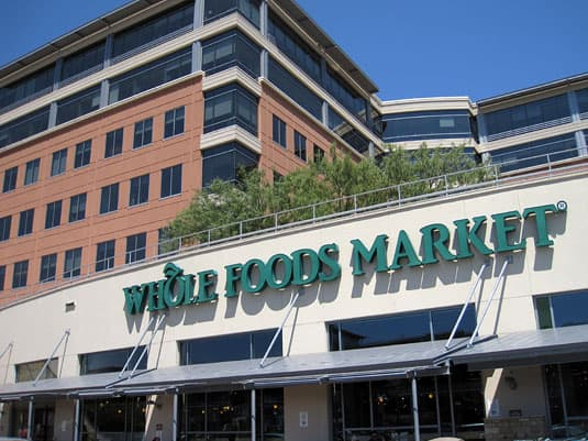 Austin's flagship Whole Foods Market store and the company's headquarters right behind.