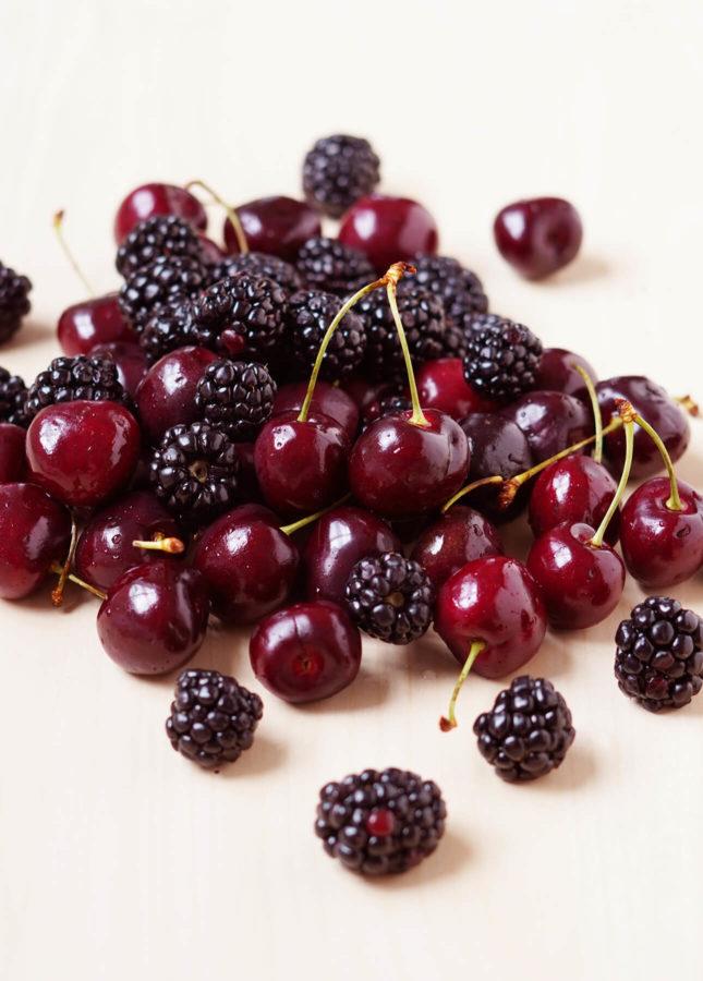 Fresh Cherries and Blackberries // FoodNouveau.com