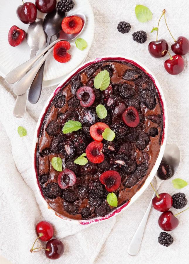 Blackberry, Cherry, and Chocolate Clafoutis // FoodNouveau.com