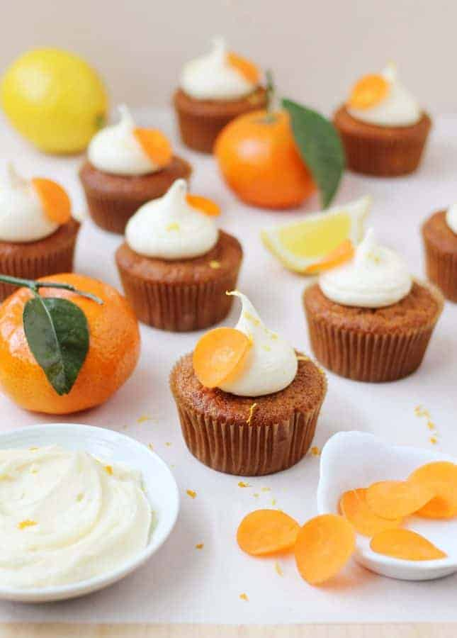 Orange and Carrot Cupcakes with Zesty Cream Cheese Frosting // FoodNouveau.com