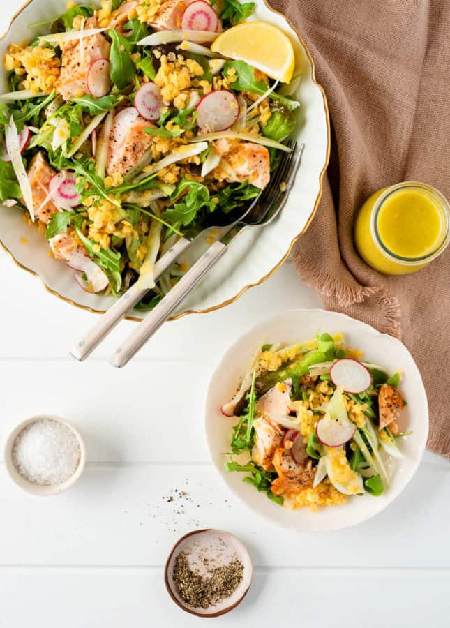 Fennel, Lentil, and Salmon Salad // FoodNouveau.com