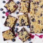 Oats and Blueberry Crumb Bars // FoodNouveau.com