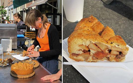 The famous Winkel apple pie, in Amsterdam.