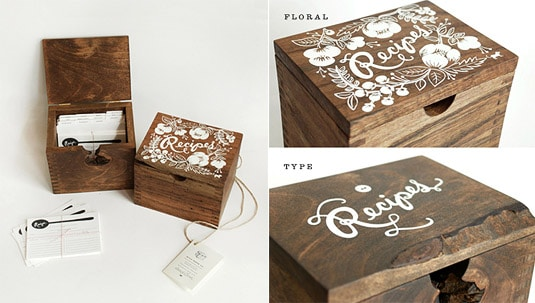 Rifle Paper Co. Heirloom Recipe Card Box