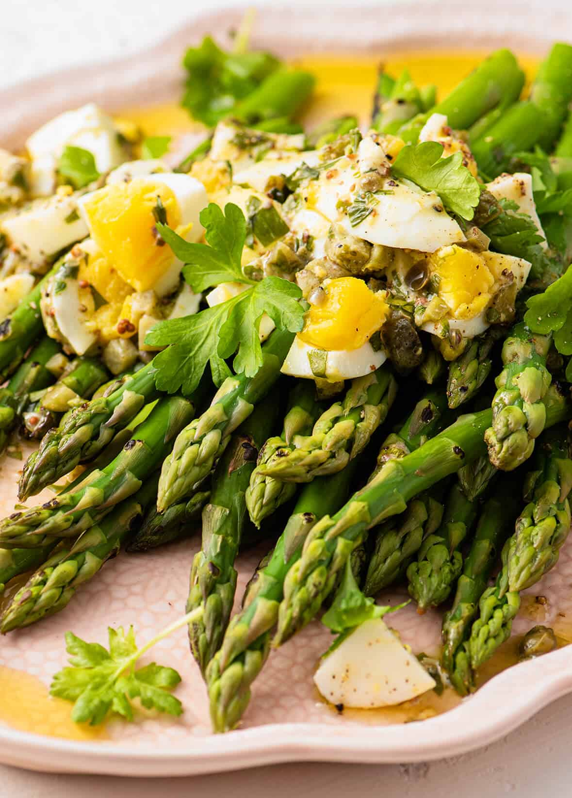 Asparagus with Gribiche Dressing // FoodNouveau.com
