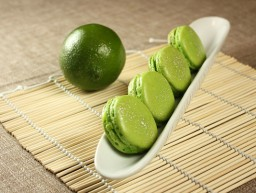 Lime Basil Macarons, inspired by Pierre Hermé