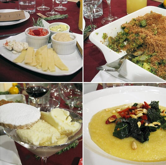Just some of the colorful dishes we enjoyed (let me tell you, we didn't leave hungry!). (At Café Johnsonia & Delightful Delicacies' Altitude Summit Dinner, Salt Lake City)
