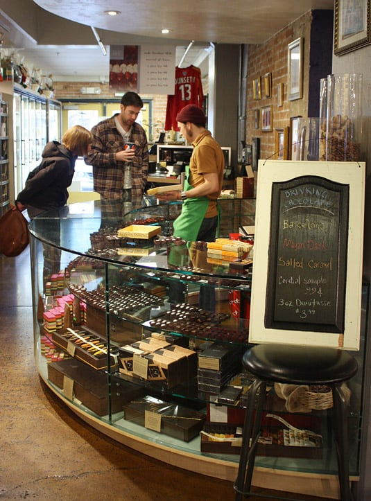 Tony Caputo's chocolate counter, Salt Lake City.