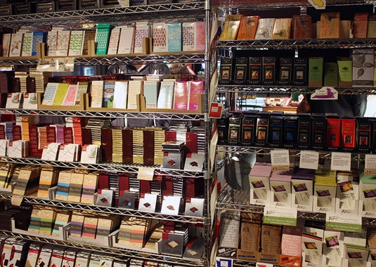 Tony Caputo's extensive chocolate collection, Salt Lake City.