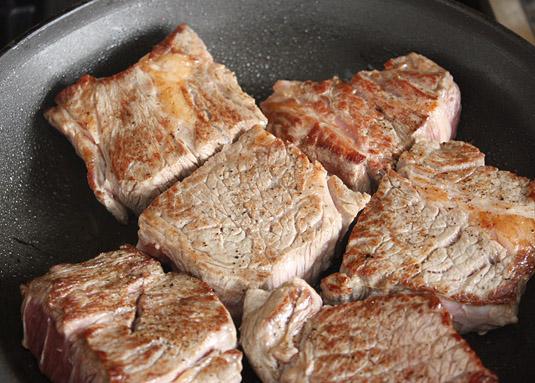 Seared beef chuck.