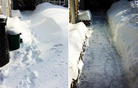 Shoveling makes me hungry for hearty comfort food! After a snowstorm last week: