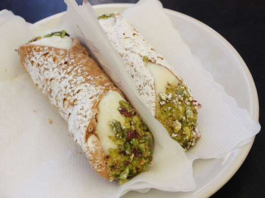 The best cannolo I ever had at Prestipino Cafè, Catania, Sicily