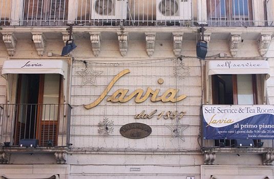 Savia, Catania's most famous pastry shop.