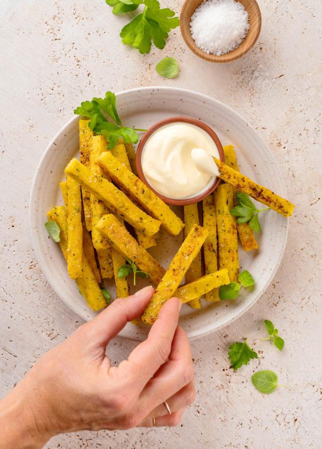 Parmesan Polenta Fries // FoodNouveau.com