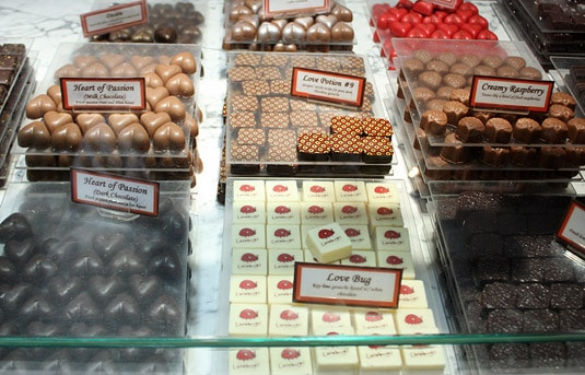 Premium filled chocolates at Jacques Torres, New York City