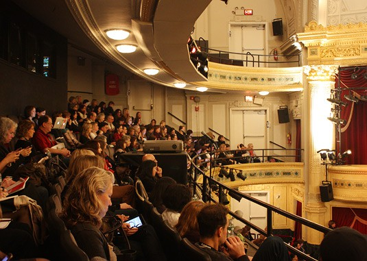 Inside the Hudson Theater, at the International Association of Food Professionals Annual Conference in New York City