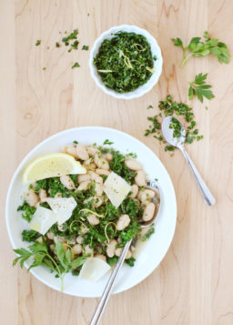 Cannellini Bean and Kale Stew with Lemon Gremolata