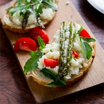 Vegetarian Smashed Cauliflower and Roasted Asparagus Sandwich by White on Rice Couple
