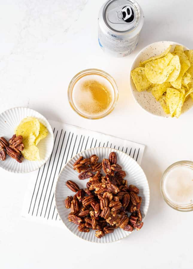 Spicy and Sweet Cocktail Pecans // FoodNouveau.com